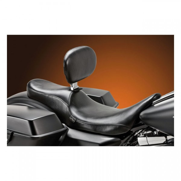 """LEPERA Seat - """"LePera, Silhouette 2-up seat. With rider backrest"""" - 08-20 Touring"""
