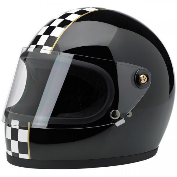"BILTWELL - ""Gringo-S LE Checkered"" - black - with visor - DOT"