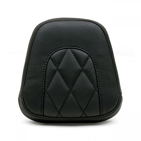 """MUSTANG Seat - """"Mustang, Vintage sissy bar back pad. Black Diamond"""" - 11-13 FXS Softail Blackline; 12-17 FLS Slim; 16-17 FLSS Slim S (NU)"""