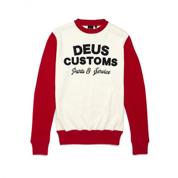 DEUS EX MACHINA Sweatshirt Charleys Moto Knit in Rot