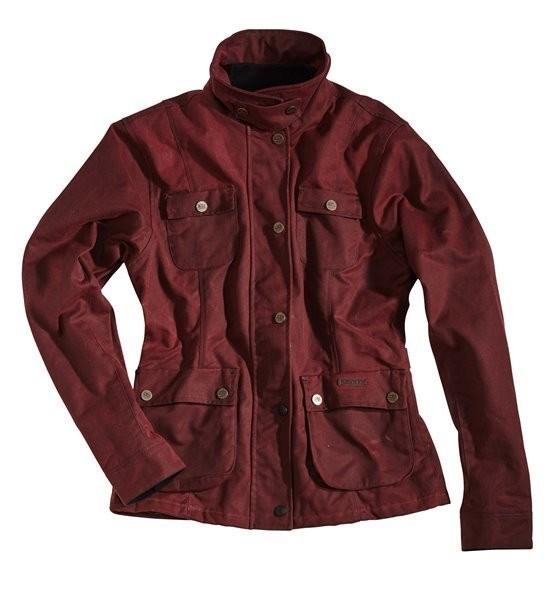 """ROKKER Women's Jacket - """"Wax Cotton Jacket Lady"""" - red"""
