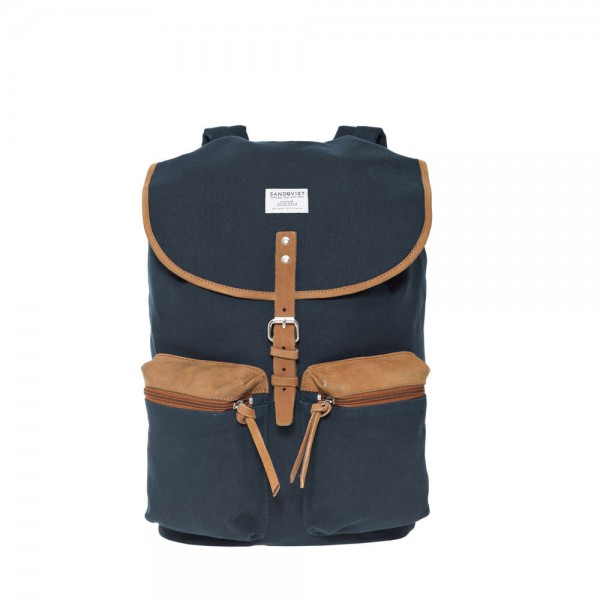 "SANDQVIST Backpack - ""Roald"" - blue"
