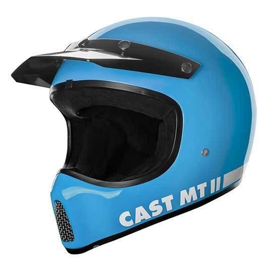 CAST MT 2 Hellblau Motorradhelm mit ECE