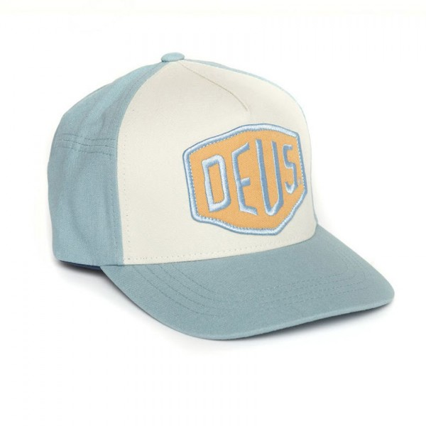 "DEUS EX MACHINA Hat - ""Colour Shield"" - blue-grey"