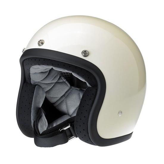 Biltwell Bonanza Gloss Vintage White DOT Open Face Helmet