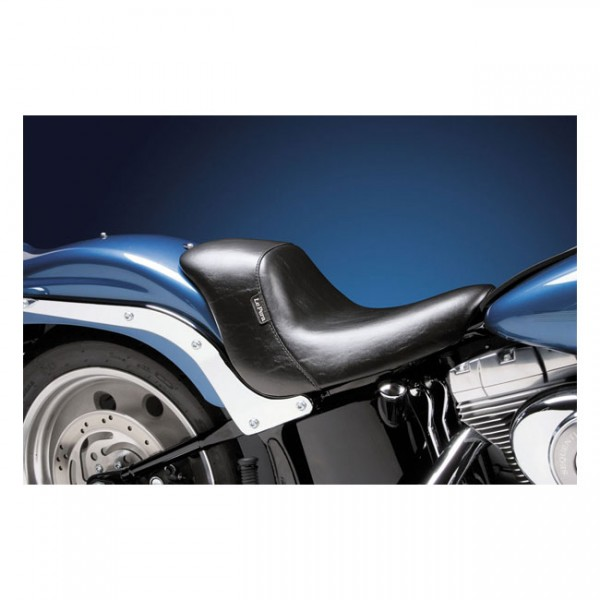 """LEPERA Sitz - """"Bare Bones up-front solo seat. Smooth. Gel"""" - 08-17 Softail with 150mm tire, fender m"""