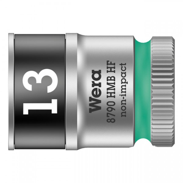 """WERA Tools - """"Zyklop 3/8"""" socket with holding function - Metric 13.0"""" - Hex bolts and nuts"""