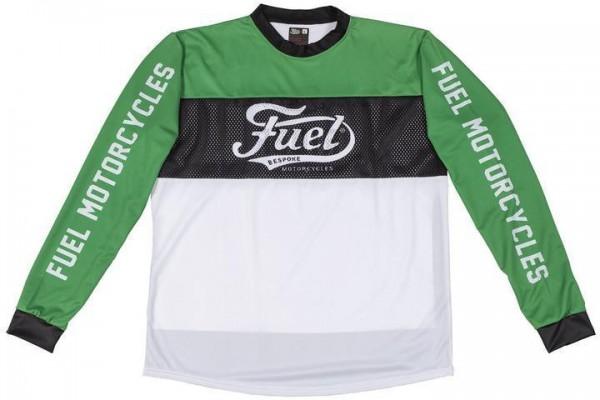 "FUEL Moto Jersey - ""Turn-Left"" - green, black & white"