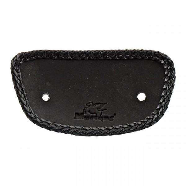 "MUSTANG Seat - ""Mustang, mini fender bib. Plain with braided edges. Black"" - 00-03 FLSTS; 06-07 FLSTSC; 07-17 FLSTC; 05-17 FLSTN; 97-20 FLT/Touring"