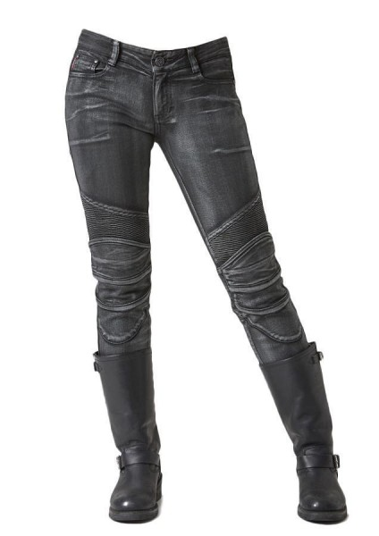"uglyBROS Women's Jeans - ""Twiggy Silver"" - silver coated"