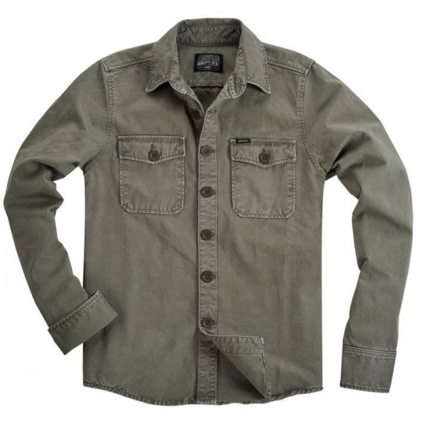 "ROKKER Men's Shirt - ""Worker Shirt Green"" - olive"