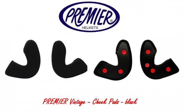 """PREMIER Vintage - """"Cheek pads"""" - black"""