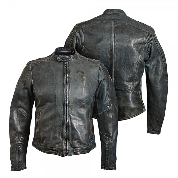 """ROKKER Jacke - """"Street Leather Jacket"""" - grau"""