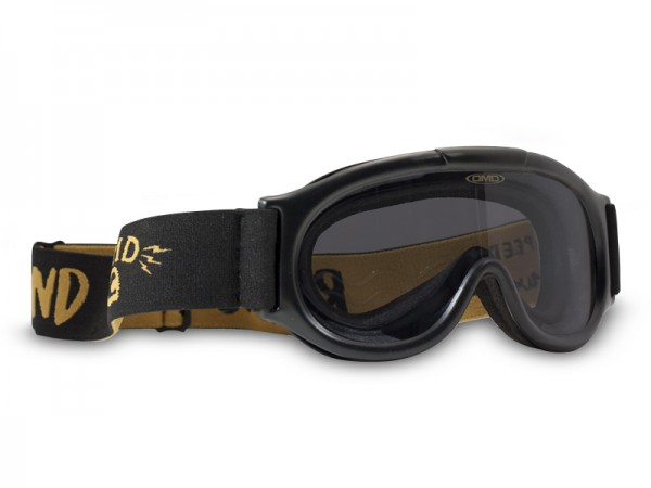 """DMD Moto Goggle - """"Ghost Script Yellow"""" - lightly tinted"""