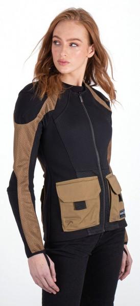 KNOX Damen Protektorenhemd Urbane Pro Utility Camel