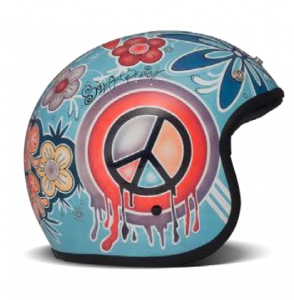 "DMD Vintage - ""Flower Power"" - colorful jet helmet"