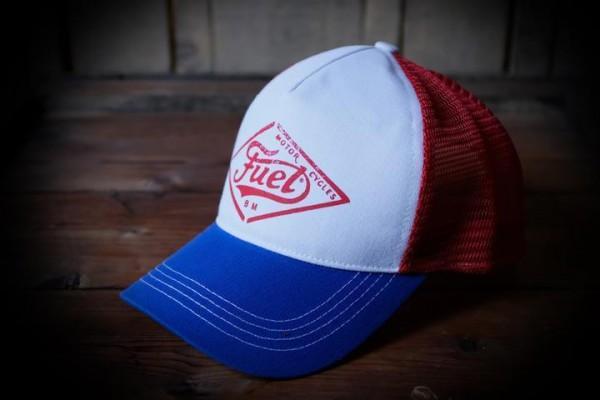 "FUEL Hat - ""Stamp"" - red blue"