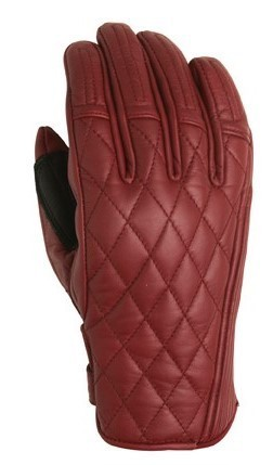 "ROLAND SANDS Women's Gloves - ""Riot"" - oxblood"