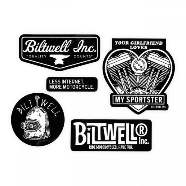 "BILTWELL Aufkleber - ""Sportster Sticker Pack"" - 5-teilig"