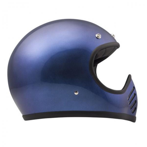 DMD 75 SeventyFive Carbon Metallic Blue Integralhelm mit ECE