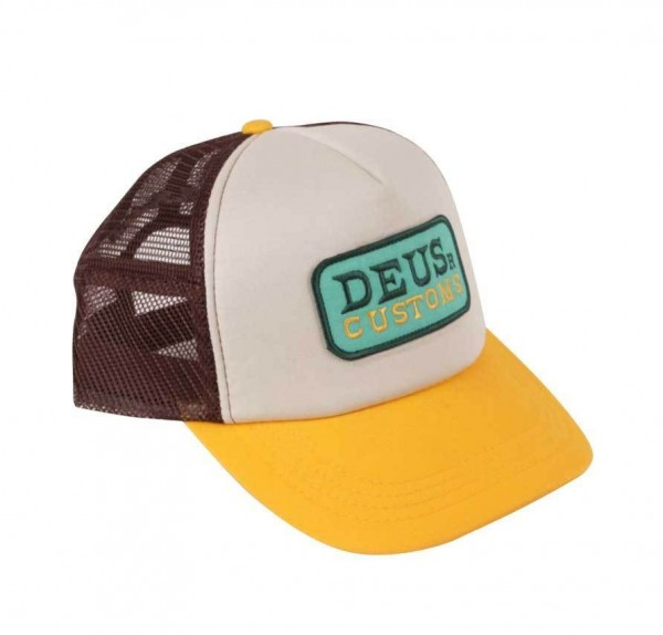 "DEUS EX MACHINA Cap - ""Gilmour Trucker"" - braun & gold"