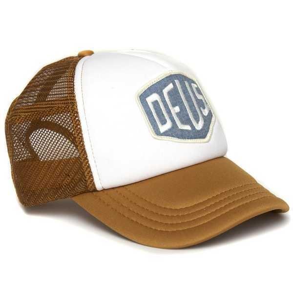 "DEUS EX MACHINA Cap - ""Colour Shield"" - hellbraun & weiß"