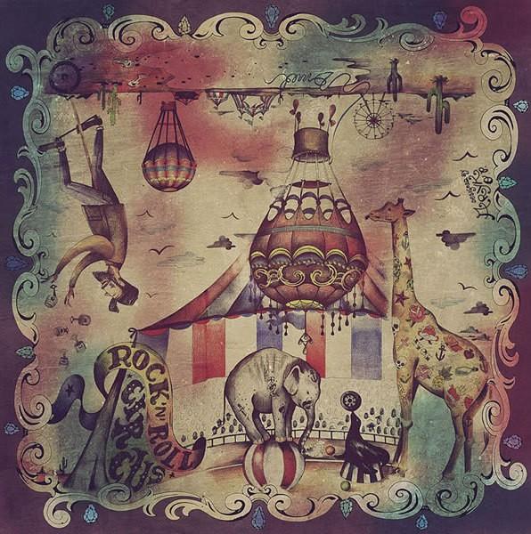 """DMD Tuch - """"Circus"""" - 135 x 135 cm"""