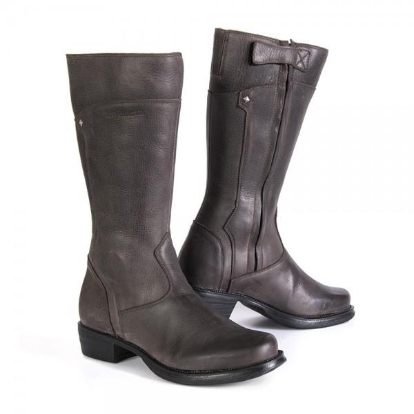 "STYLMARTIN Women's Motorcycle Boots - ""Sharon"" - waterproof brown"