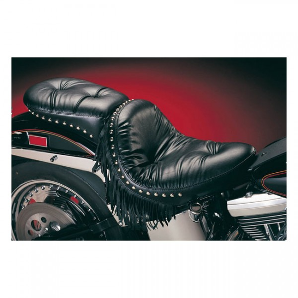 "LEPERA Seat - ""LePera, Monterey solo seat. Regal Plush with fringes"" - 84-99 Softail (NU)"