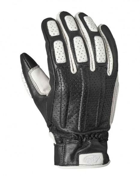 """ROLAND SANDS Gloves - """"Rourke"""" - black & white"""