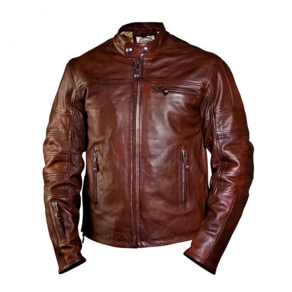 ROLAND SANDS DESIGN motorcycle jacket Ronin in tobacco brown