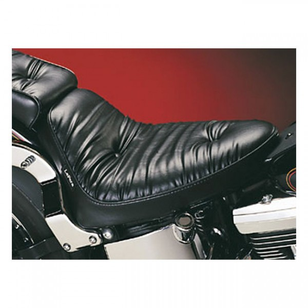 """LEPERA Seat - """"LePera, Cobra solo seat. Regal Plush"""" - 00-07 Softail (excl. Deuce) with upto 150mm tire (fender mounted)"""