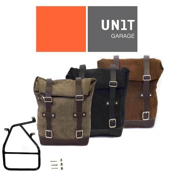 """UNITGARAGE - """"Seitentasche + Träger rechts nineT"""" - Wildleder"""