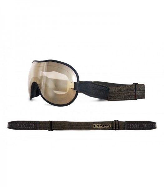 """ETHEN Goggles - """"Cafe Racer CR0114"""" - light brown mirrored"""