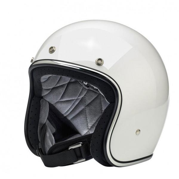 Biltwell Bonanza Helmet Gloss White DOT