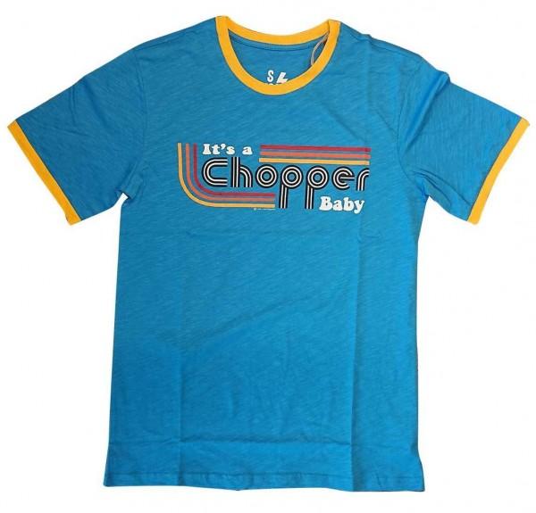 "13 1/2 MAGAZINE T-Shirt - ""It's a Chopper Baby"" - blau & gelb"