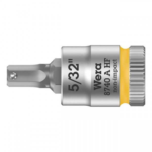 """WERA Werkzeug - """"Wera Zyklop 1/4"""" Innensechskantbit mit Haltefunktion US-Größen"""" - Hex (Allen head)"""
