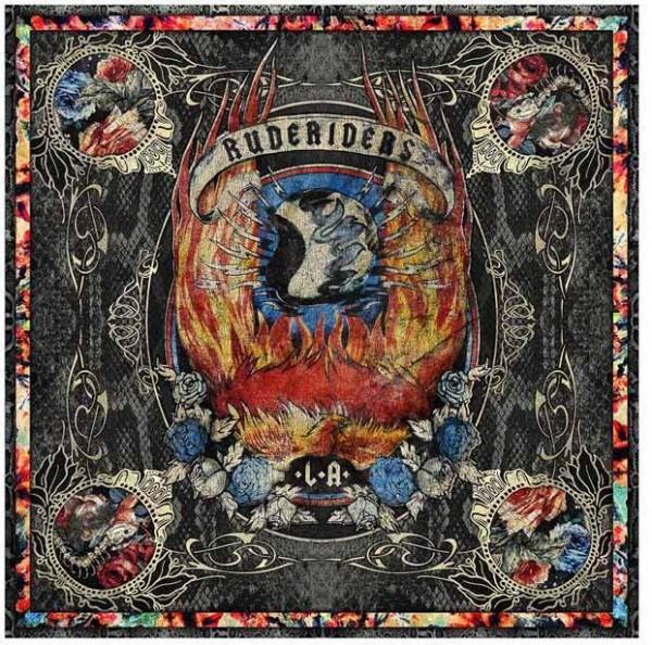 """RUDE RIDERS Tuch - """"Rock & Fire"""" - 140 x 130 cm"""