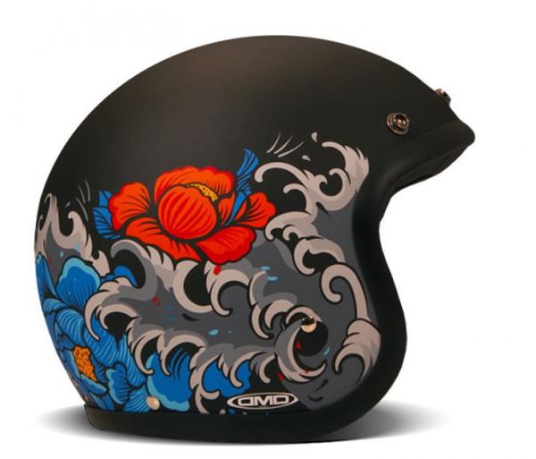 DMD Open Face Helmet Vintage Irezumi