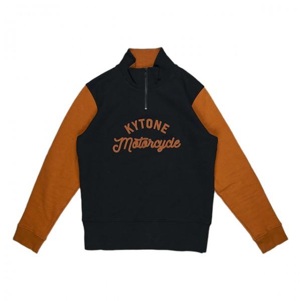 KYTONE Sweatshirt New Racer Terracotta schwarz
