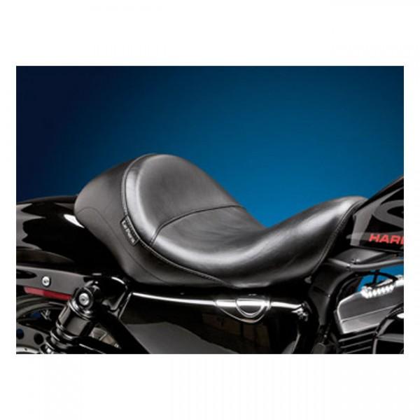 "LEPERA Sitz - ""Aviator solo seat. Black, smooth"" - 04-20 XL (excl. 07-09 XL) with 3.3 gallon fuel ta"