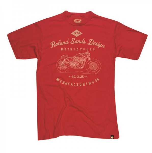 """ROLAND SANDS T-Shirt - """"MFG"""" - rot"""
