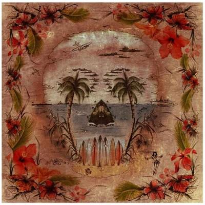 """DMD Tuch - """"Island"""" - 135 x 135 cm"""