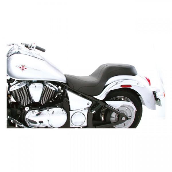 "MUSTANG Seat - ""Mustang Daytripper seat plain black"" - Kwasaki: 06-20 Vulcan 900 Classic; 07-20 Vulcan Custom"