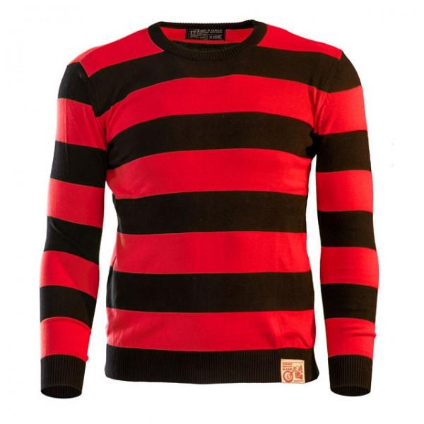 13 1/2 Magazine Sweater Outlaw in Schwarz und Rot