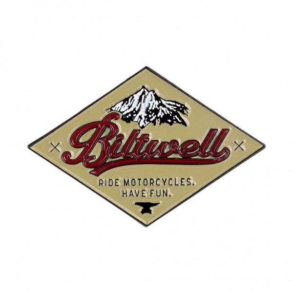 "BILTWELL Pin - ""CRS Red/ Beige"""