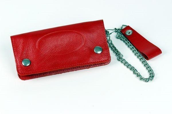 Vanson Leathers Geldbörse Wallet 2 in Rot