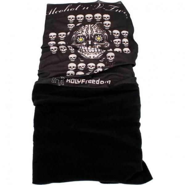 "HOLY FREEDOM Fleece Bandana - ""Skull Pile"""