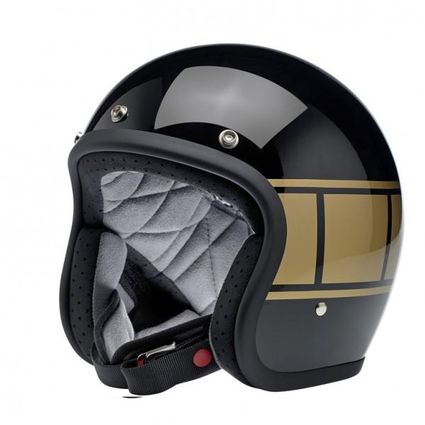 Biltwell Bonanza Black Holeshot Helmet