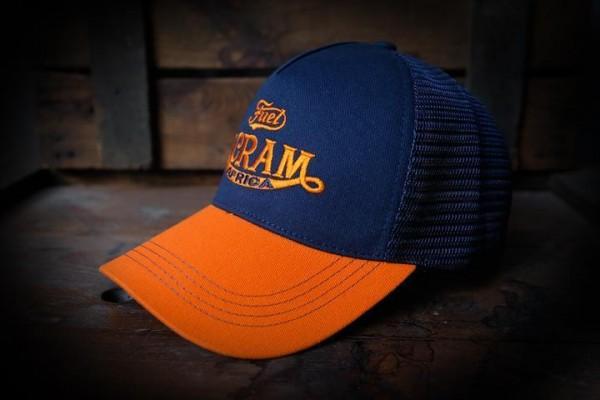 """FUEL Cap - """"Scram Africa"""" - orange & blau"""
